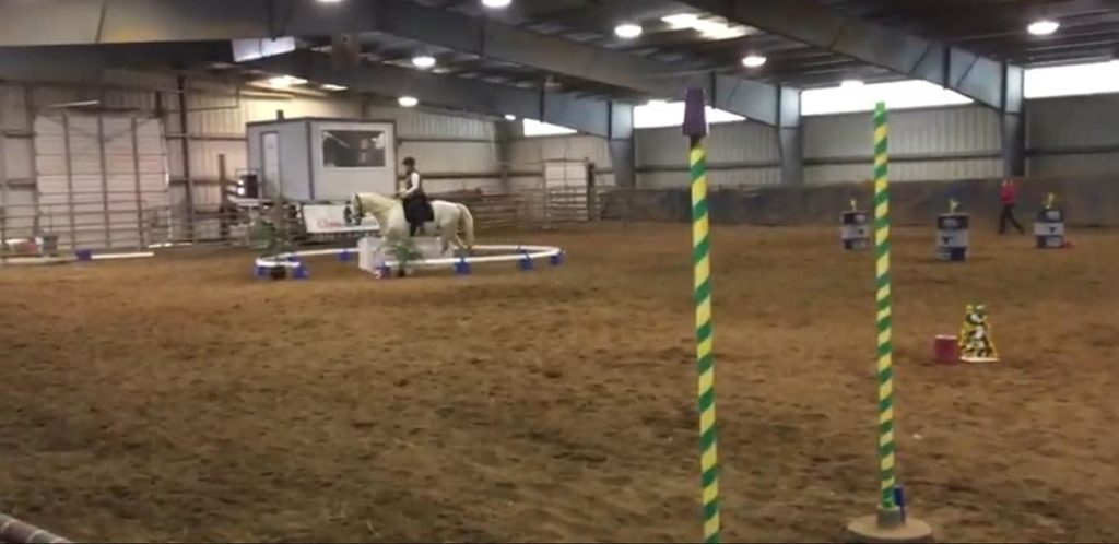The Keep Stables working equitation group visited a clinic in Virginia to school ease of handling